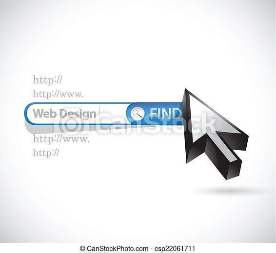 web design search bar illustration design - csp22061711
