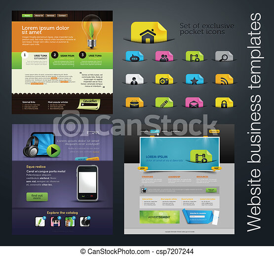 web design set  bonus icons - csp7207244
