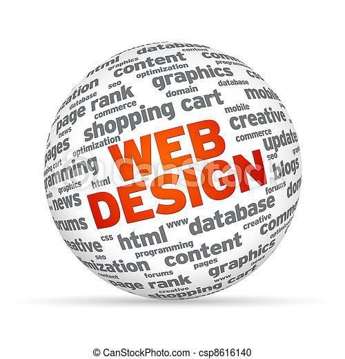 Web Design Sphere - csp8616140
