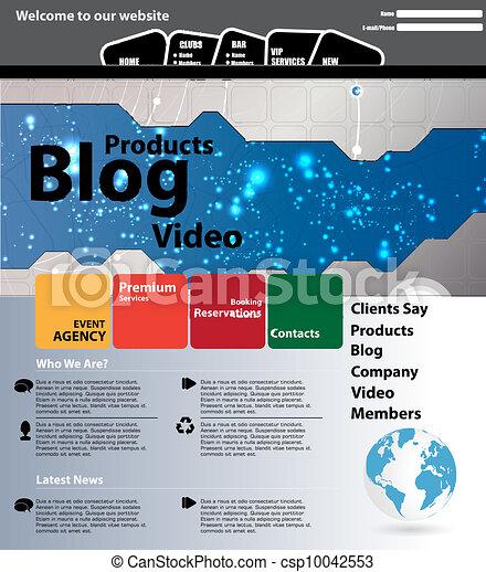 Web design template - csp10042553
