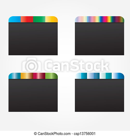 Web design template elements  - csp13756001