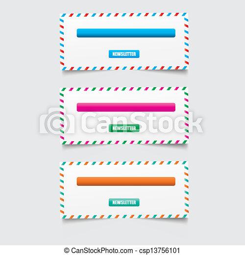 Web design template elements  - csp13756101