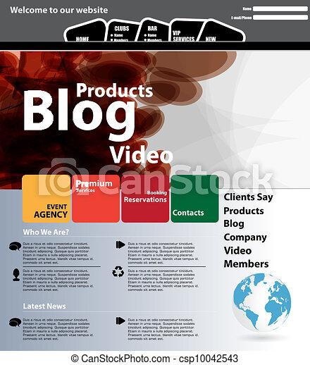 Web design template - csp10042543