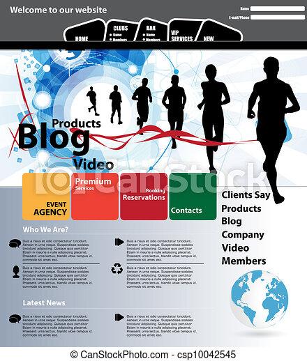 Web design template - csp10042545