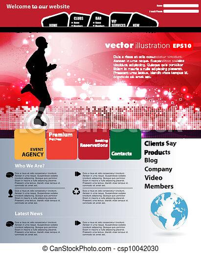 Web design template - csp10042030