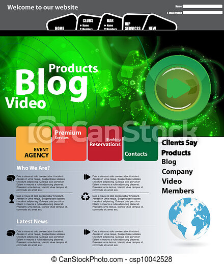 Web design template - csp10042528