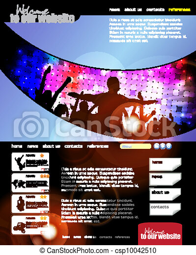 Web design template - csp10042510