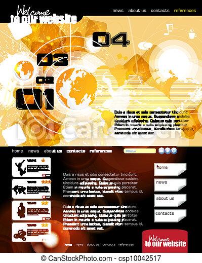 Web design template - csp10042517
