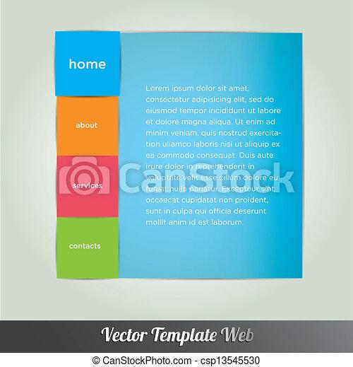 Web design template vector - csp13545530