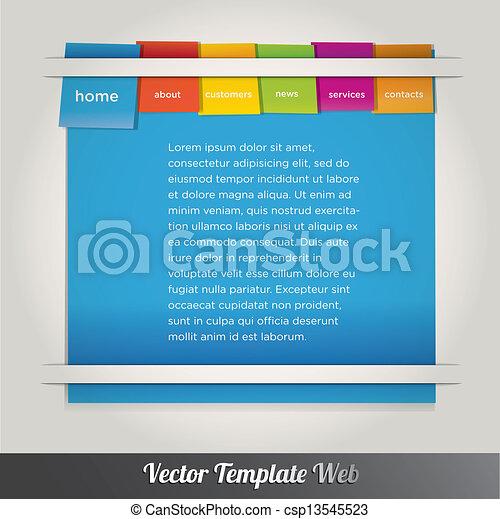 Web design template vector - csp13545523