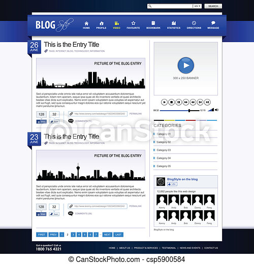 Web Design Website Element Template - csp5900584