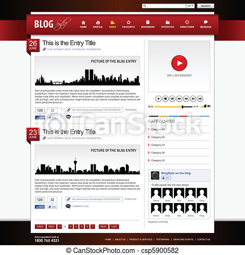 Web Design Website Element Template - csp5900582