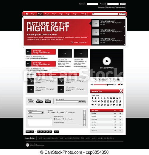 Web Design Website Element Template - csp6854350