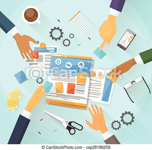 web development create design site building team people clipart rh canstockphoto com create clip art online create clipart from photo