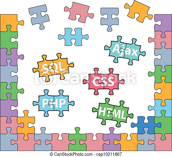 Web development puzzle HTML PHP solutions - csp10211867