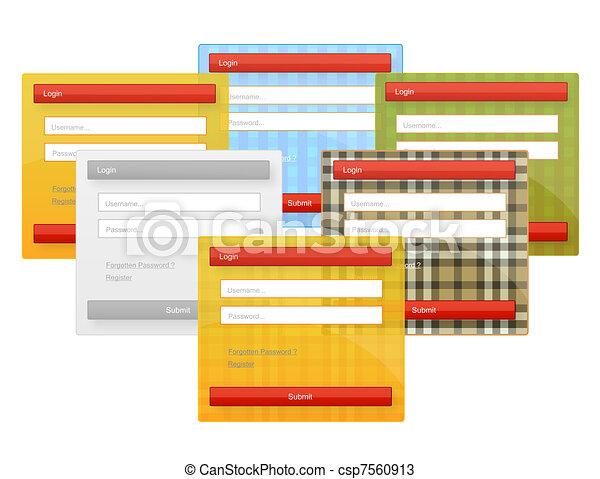 web element login forms set - csp7560913