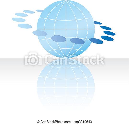 web, erdball, begriff, ikone, internet - csp3310643