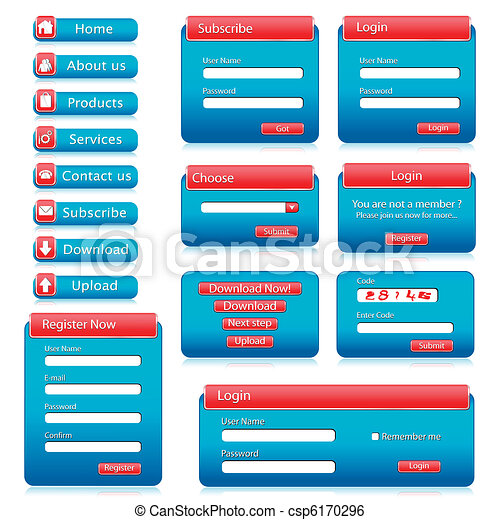 web form template illustration of set of web form templates on