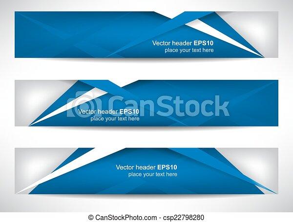 Web header or banner  - csp22798280