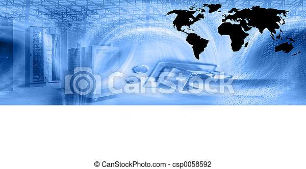 web, hosting, шаблон - csp0058592