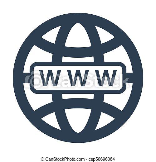 Web icon on white background. - csp56696084