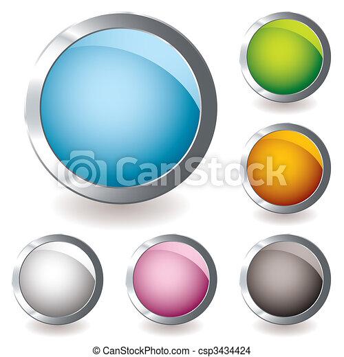 web icon variation round - csp3434424