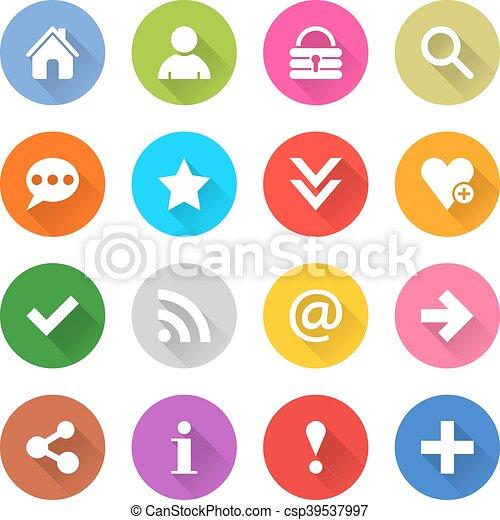 Web icon with blasic sign - csp39537997
