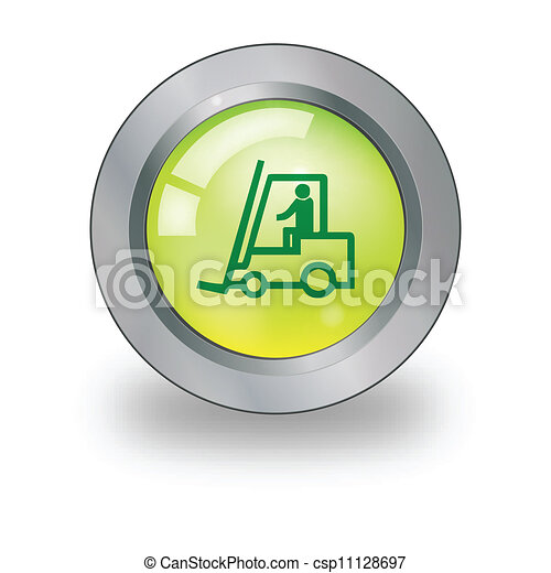 Web icon with sign over button - csp11128697