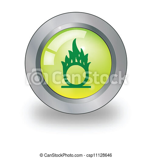 Web icon with sign over button - csp11128646