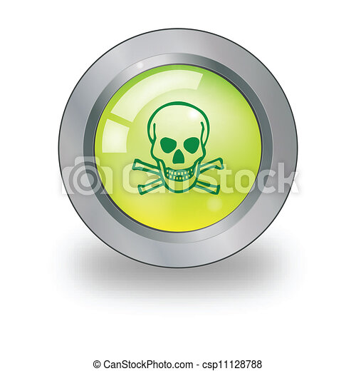 Web icon with sign over button - csp11128788