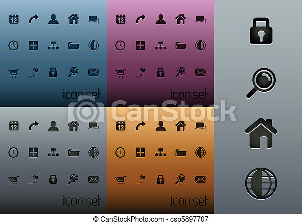 web, icona, 2.0, pulito, pacco - csp5897707