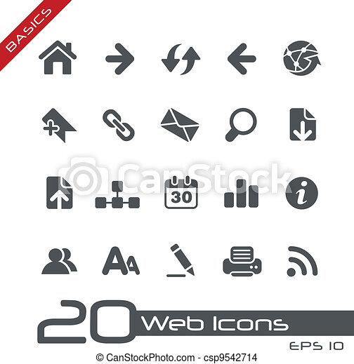 Web Icons // Basics - csp9542714
