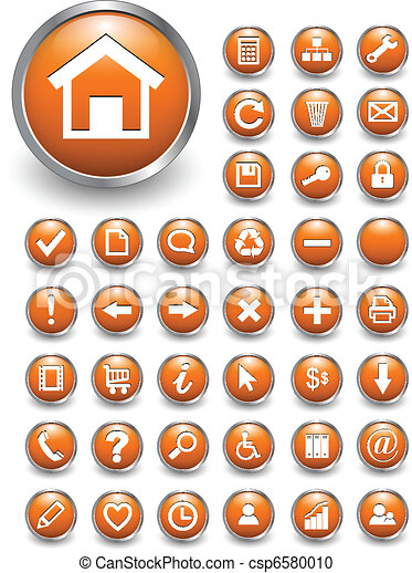 Web icons, buttons - csp6580010