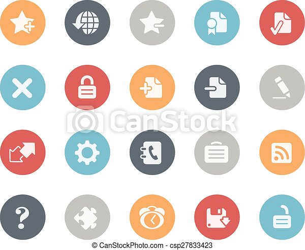 Web Icons Classics Series - csp27833423