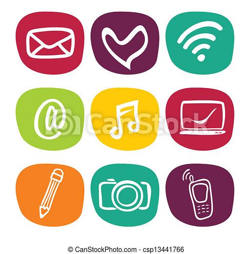 Web icons - csp13441766