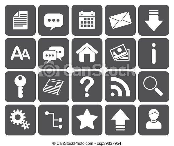 Web icons - csp39837954