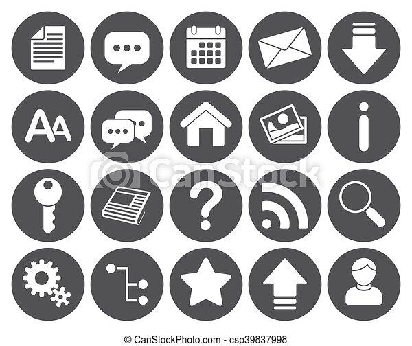 Web icons - csp39837998