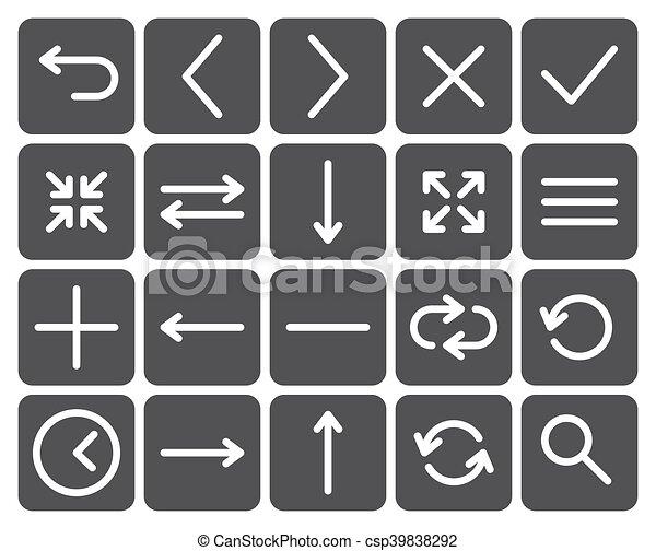 Web icons - csp39838292