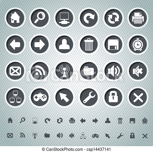 Web icons - csp14437141