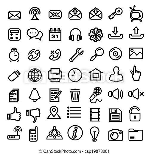 Web icons - csp19873081