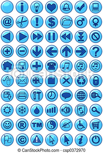 Web Icons in blue - csp0372970