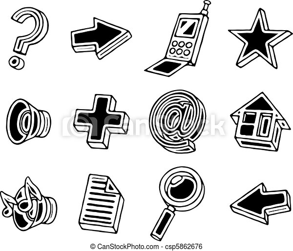 Web icons set - csp5862676