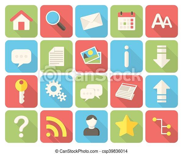 Web icons - csp39836014