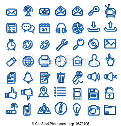 Web icons - csp19873105