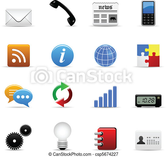 Web Icons Vector - csp5674227