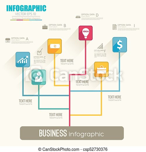Web Infographic Flowchart Template - csp52730376
