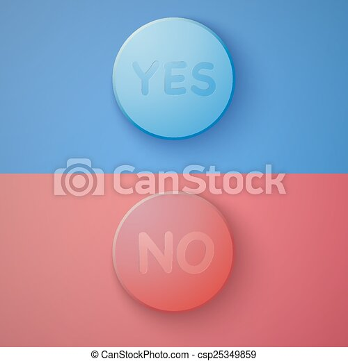 Web Infographic OK Cancel Yes No Colorful Buttons Layout with Delicate Colors Vector Background - csp25349859