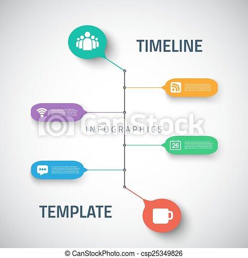 Illustration Of Web Infographic Timeline Template Layout Vector - Graphic timeline template