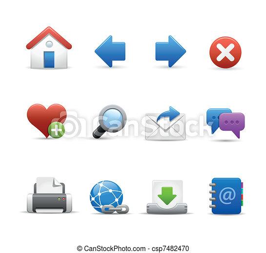 Web & Internet Icon Set  - csp7482470