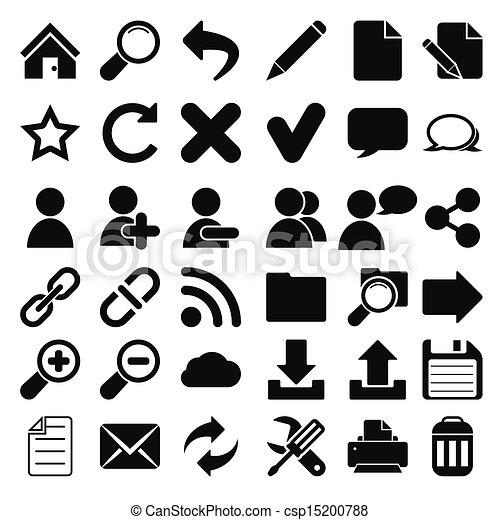 Web Internet Icons - csp15200788